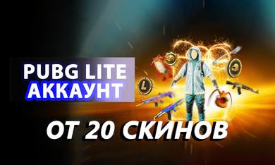 PUBG Lite аккаунт [от 20 скинов] 5-30 LVL