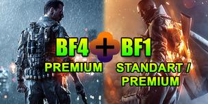Battlefield 1 + Battlefield 4 Premium + смена данных
