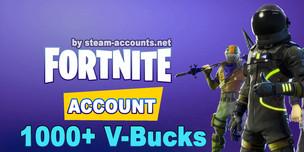 FORTNITE account   1-50 LVL   1 000+ V-BUCKS